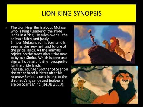 film review for lion king complete lion king presentation