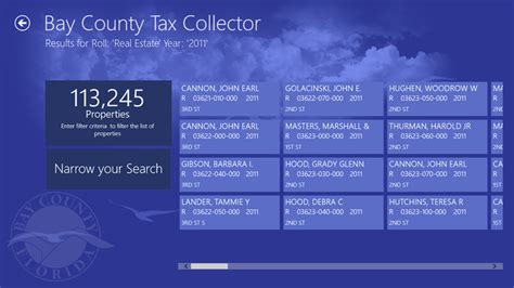 County Real Estate Property Tax Records The Government App Bay County Tax Collector Debutes In The Store Mcakins