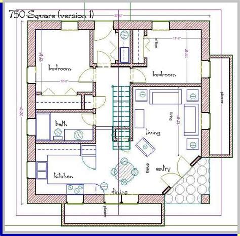 square house plans a straw bale house plan 750 sq ft