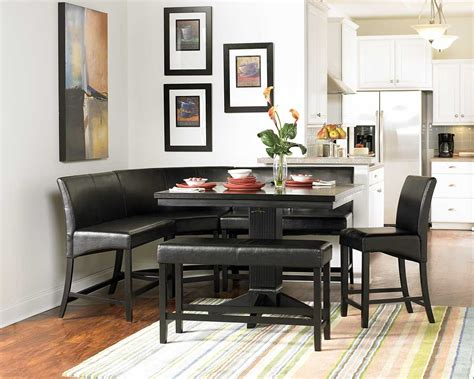 corner bench set homelegance papario counter height dining table 5351 36
