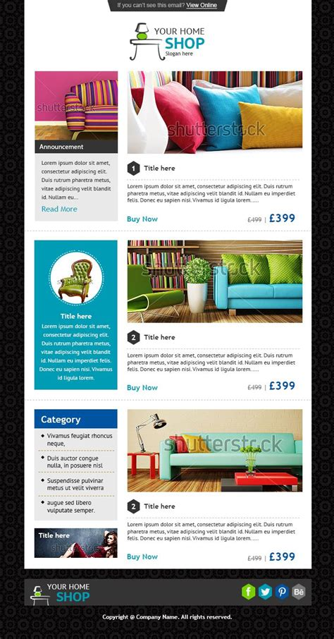 21 Best Newsletter Templates And Email Marketing Images On Pinterest Email Newsletters Email Custom Email Marketing Templates