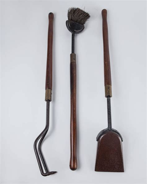 Fireplace Tool Set Sale by Wooden Fireplace Tool Set Circa 1960 For Sale At 1stdibs