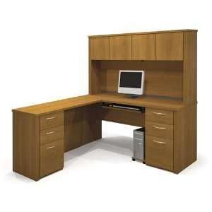 amazon l shaped computer desk corner computer workstation with hutch