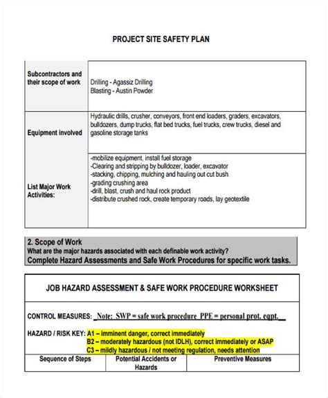 safe work plan template 40 work plan exles sles pdf word