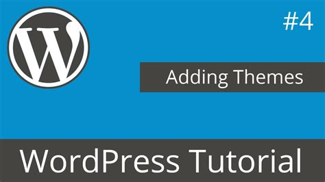 wordpress tutorial youtube tyler wordpress tutorial adding themes youtube