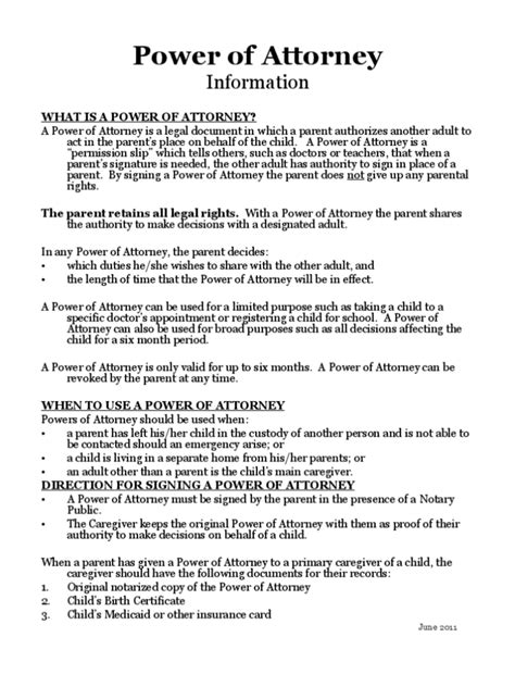 power of attorney template power of attorney form sle template calendar