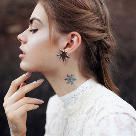 small neck tattoos female 28 small neck tattoos for styleoholic