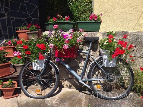 garten sachen altes fahrrad im garten tatianasart fahrrad garten