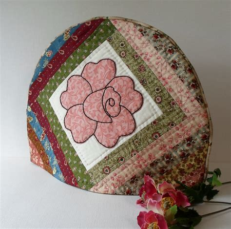 Handmade Tea Cosy - handmade tea cozy quilted cotton vintage