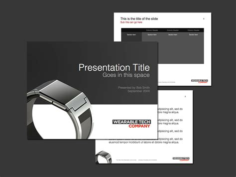 product layout ppt smart watch powerpoint template norebbo