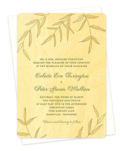 Bamboo Paper Wedding Invitations by Wispy Bamboo Invitation Wedding 171 Owl Paper Goods