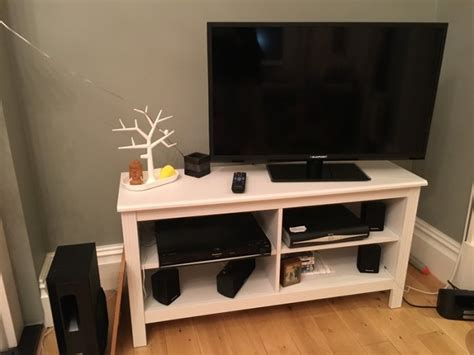 tv benches for sale ikea brusali tv bench white for sale in maynooth kildare