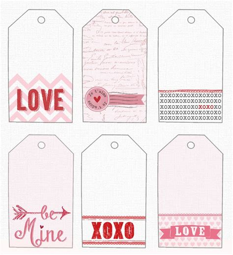 free gift tags template valentine s day pinterest