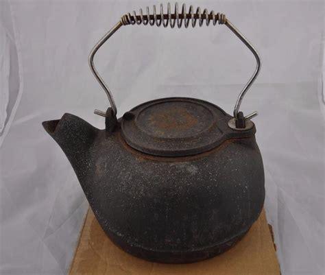 large cast iron pot vintage large heavy cast iron tea kettle pot ebay