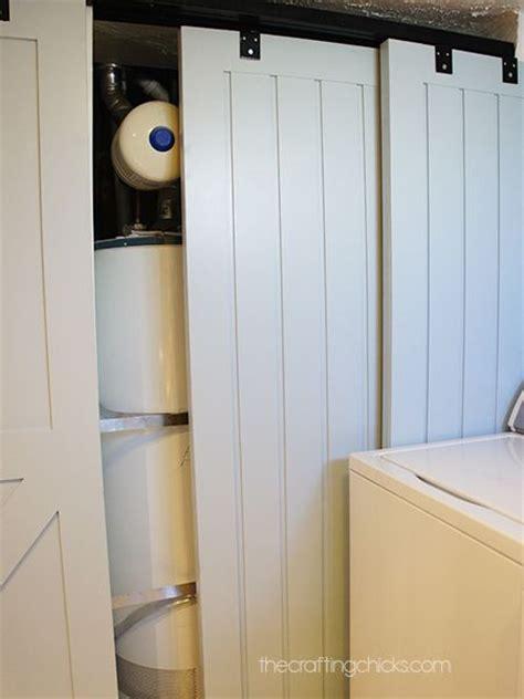 barn door electric best 20 hide water heater ideas on storage