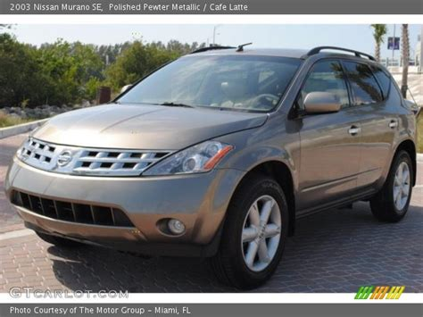 2003 nissan murano se polished pewter metallic 2003 nissan murano se cafe