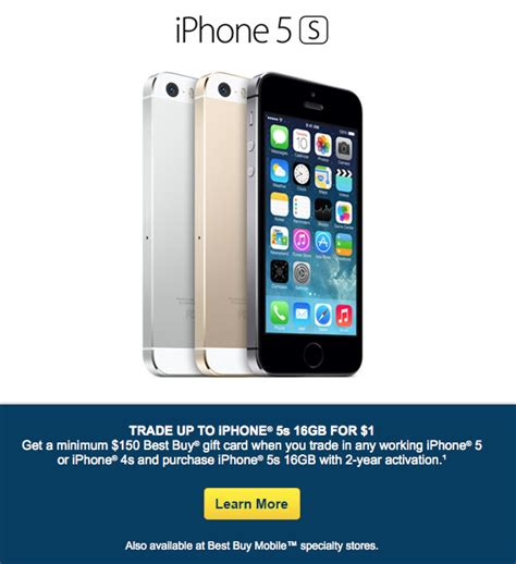 iphone trade in deals best buy offering free 16gb iphone 5s with trade in of iphone 4s or 5 mac rumors