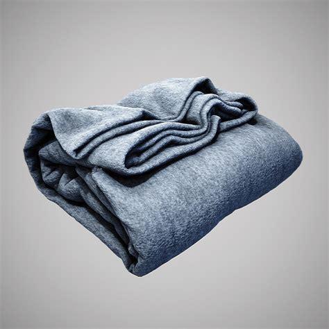 Folded Blanket 3d Model folded cloth blanket obj