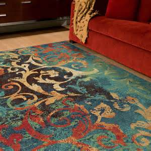 colored area rugs l a rugs tibet multi color indoor area rug walmart