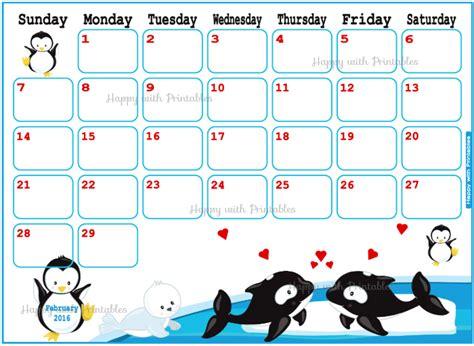 printable valentine calendar happywithprintables february 2016 planner valentine planner