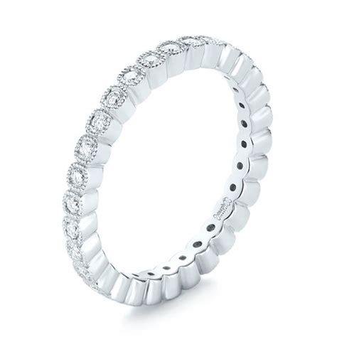 bezel set wedding band bezel set diamond eternity wedding band 103639 seattle