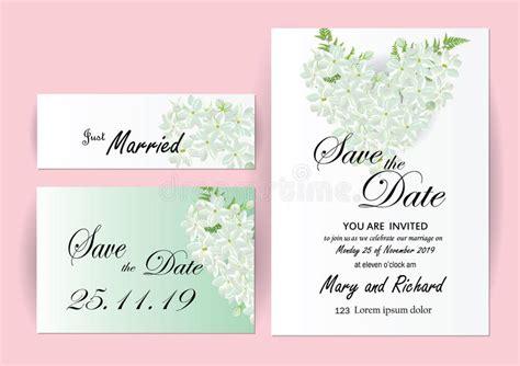 Wedding Invitation Card Flowers Jasmine Stock Vector Illustration Of Company Celebration Wedding Card Template Size
