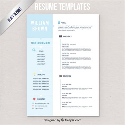 Cv Sjabloon Downloaden Cv Templates Vector Gratis