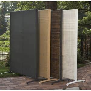 portable outdoor wicker privacy partition for backyards