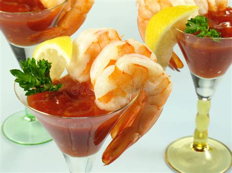 martini shrimp shrimp cocktail martinis stock image image of cold