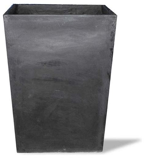 Planter Without Drainage Holes by Square Vase Black 20x20x28 Without Drainage