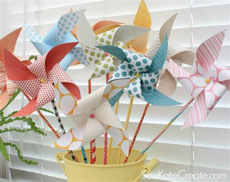 How To Make A Pinwheel With Paper - how to make paper pinwheels kate s new 4 real