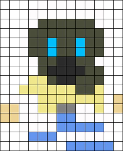 clear perler clear dmmd perler bead pattern bead sprites characters