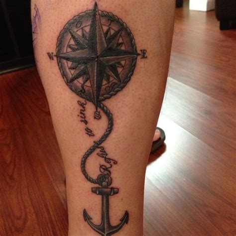 Compass Tattoo With Anchor | 55 compass tattoo design ideas amazing tattoo ideas