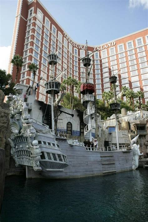 pirate themed hotel vegas treasure island calls ceremonies aboard its pirate ship
