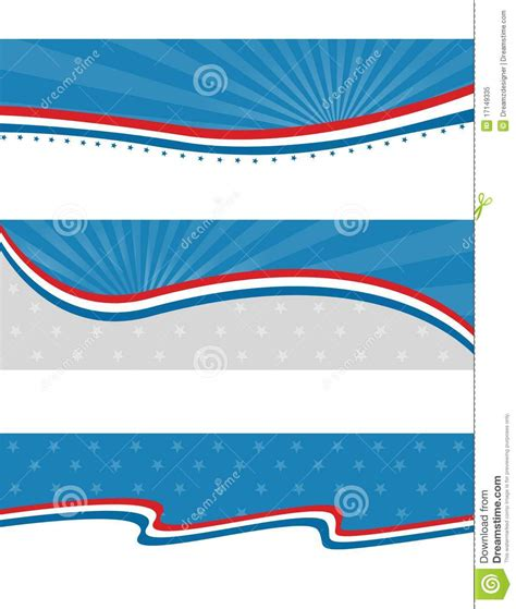 header and footer design online patriotic header banner royalty free stock photo image
