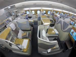 Economy Blinds Emirates A380 Business Class Between Australia Amp New