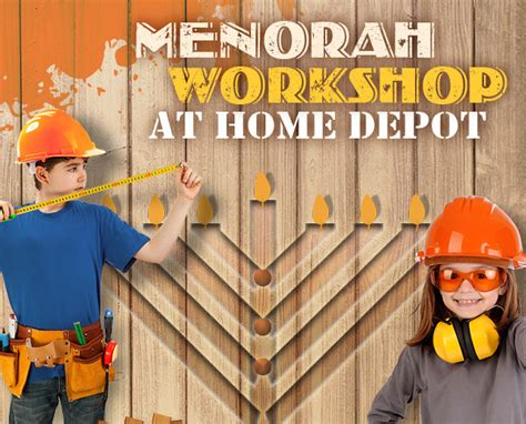 chanukah workshop at home depot chabad of the emerald coast
