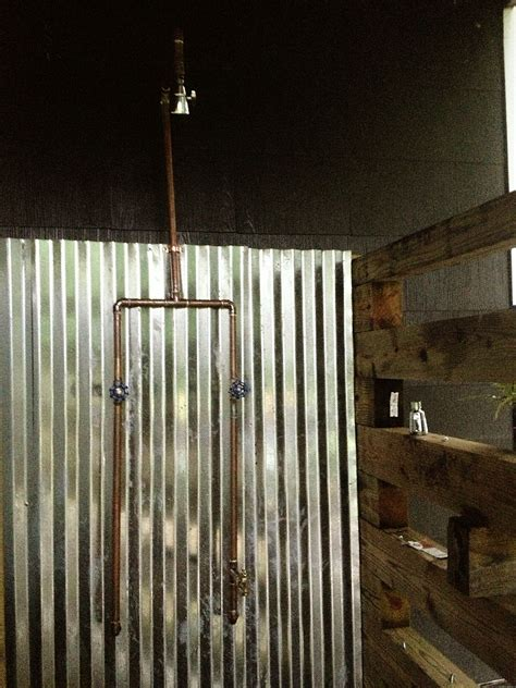diy c shower exposed copper pipe outdoor shower diy time