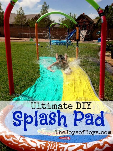 backyard splash pad diy ultimate diy splash pad the joys of boys