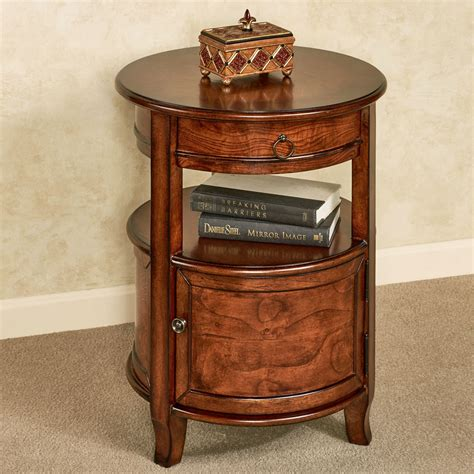 accent table storage mabella round accent table with storage