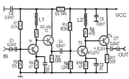 transistor high gain lifier 43 db high gain antenna lifier circuit diagram circuit diagram world