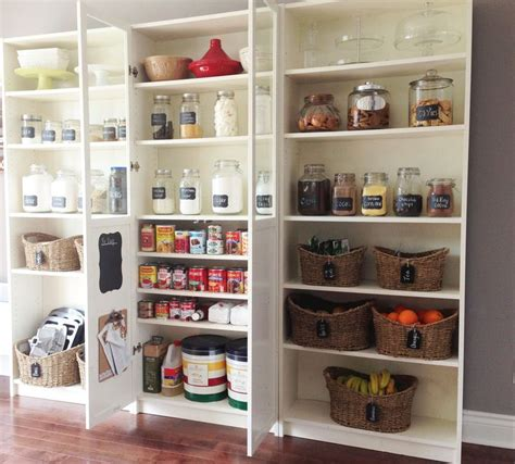 diy pantry using billy bookcases for the kitchen