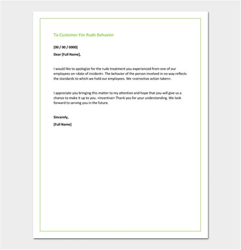 Sle Apology Letter For Rude Behavior Apology Letter For Bad Rude Or Unprofessional Behavior 7 Formats