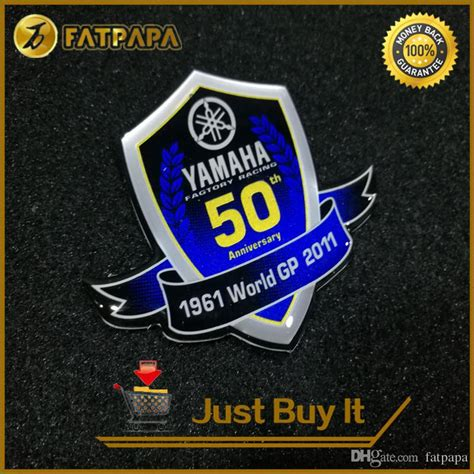 Yamaha 3d Sticker by 2018 3d Logo Motorcycle Decals Stickers For Yamaha 50th