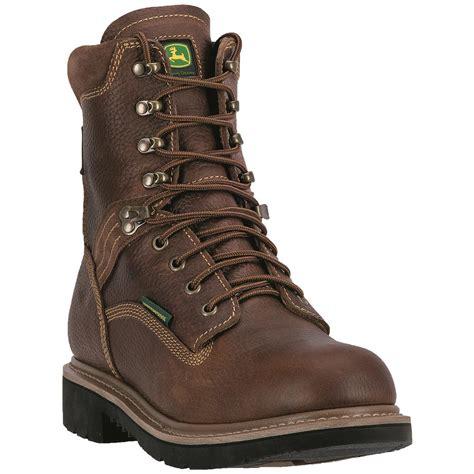 deere 039 s waterproof 8quot lace up work boots