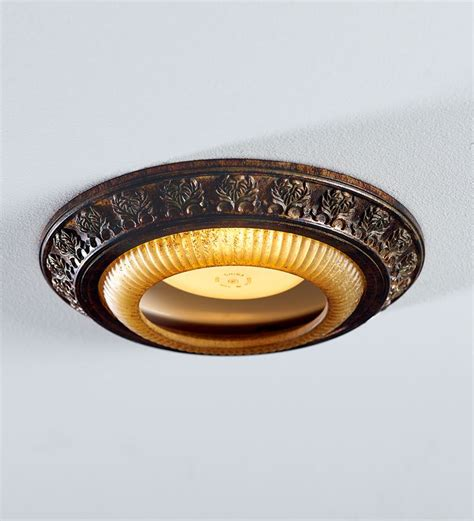 acanthus leaves light cap ring lighting plow hearth