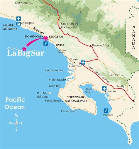big sur map map casa big sur