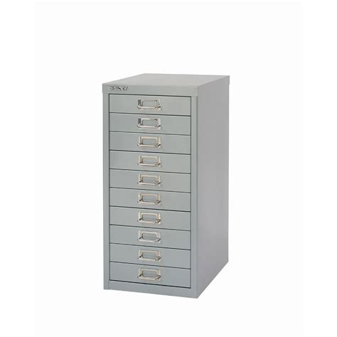 Bisley 10 Drawer Filing Cabinet Bisley 10 Drawer Filing Cabinet Silver Staples 174