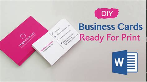 how to make and print business cards how to create your business cards in word professional