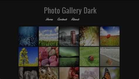 templates blogger galeria photo gallery dark blogger template btemplates